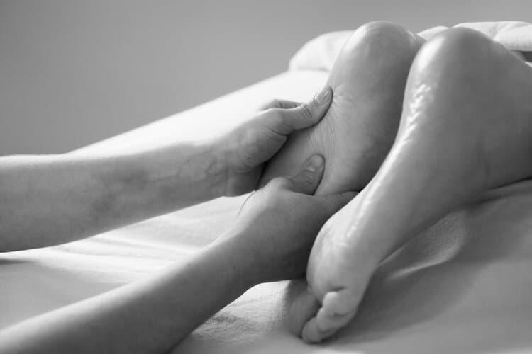 massage on bottom of feet