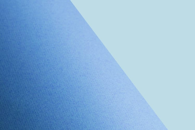 blue background with diagonal break in color