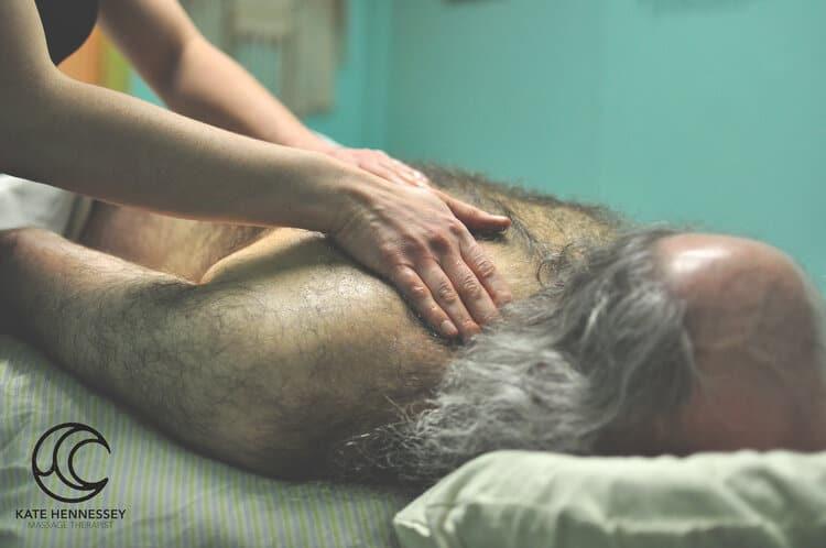 massage on upper shoulder